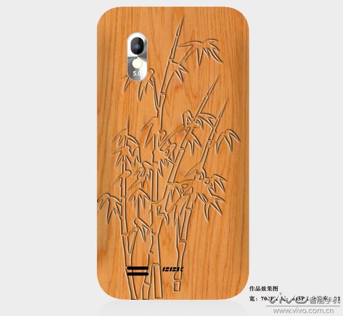 木板背景,竹子的雕刻效果