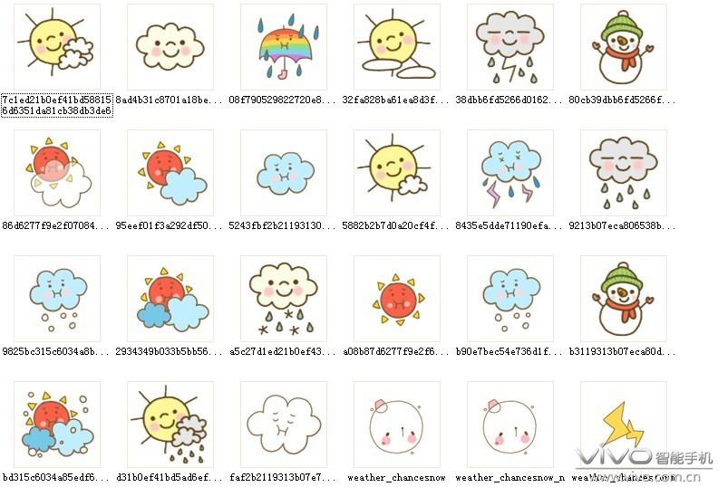 【vivo素材组】萌天气图标