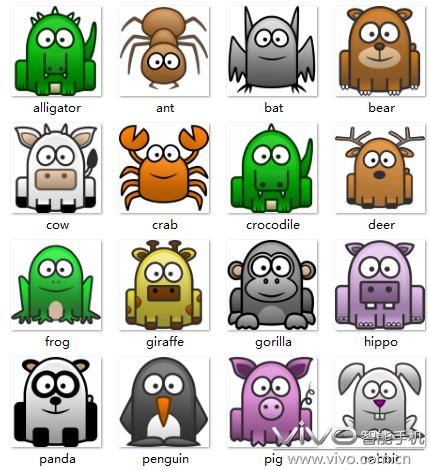 【图标分享】46个简笔画小动物png图标