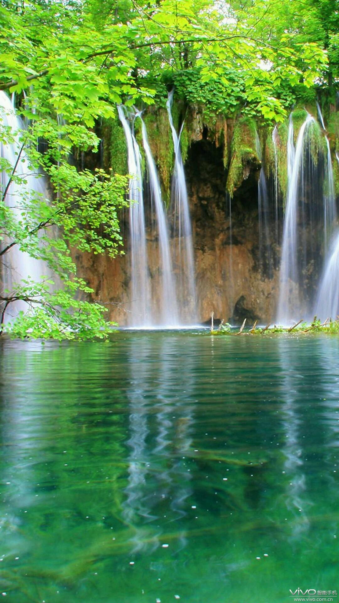 壁纸 风景 旅游 瀑布 山水 桌面 1080_1920 竖版 竖屏 手机-风景 旅游 图片
