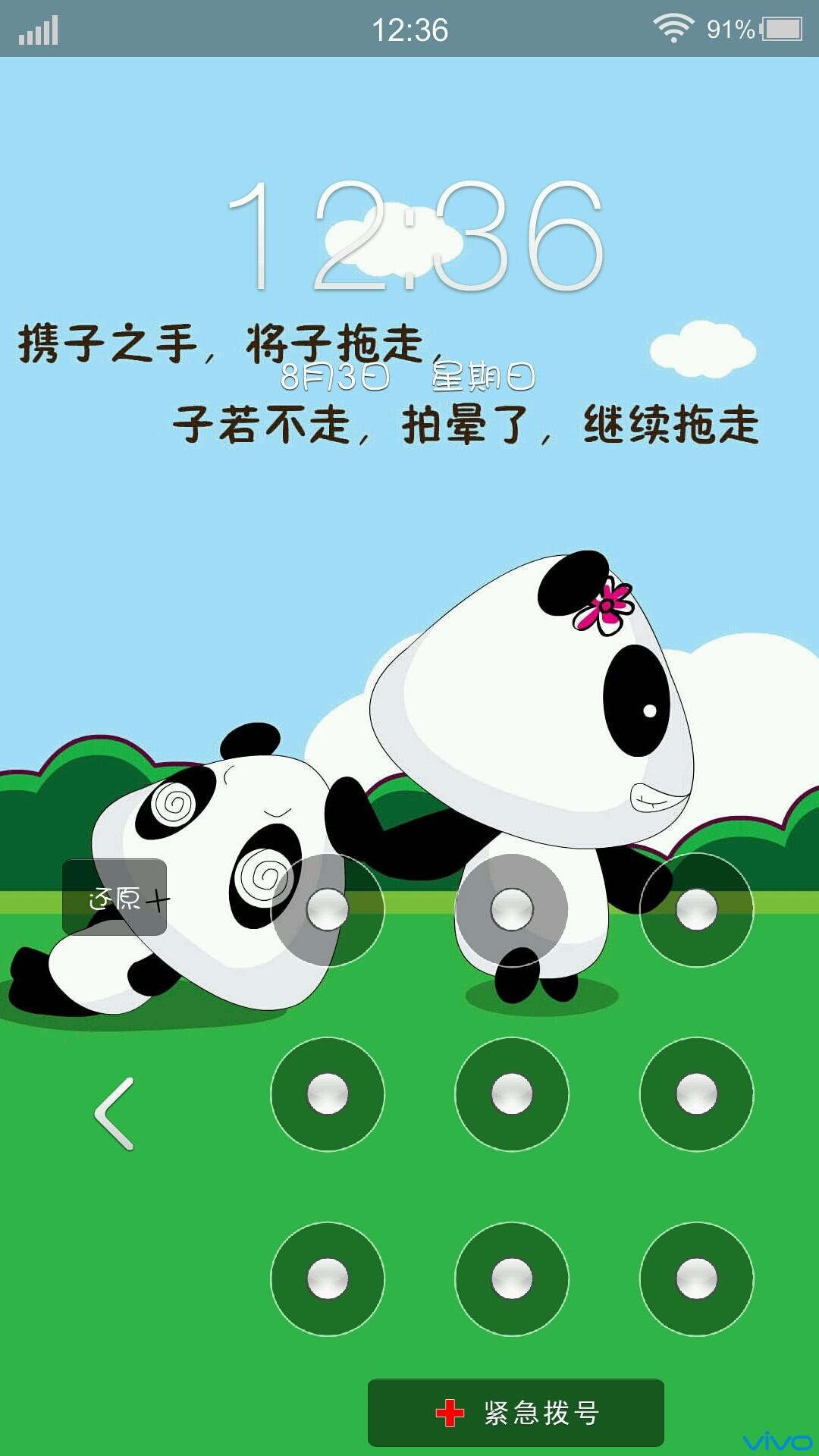 可爱的小熊猫