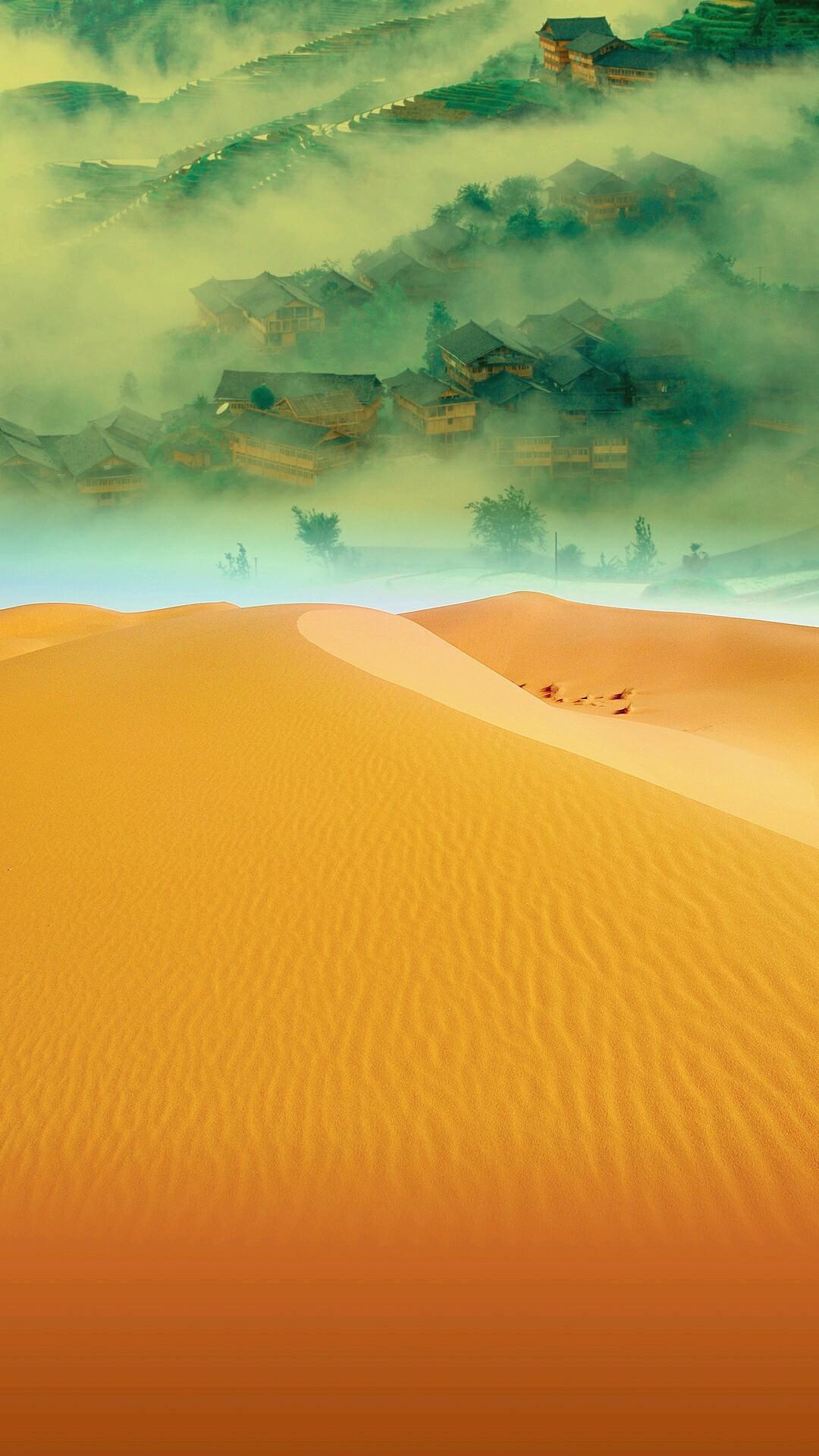 ps古装沙漠背景素材