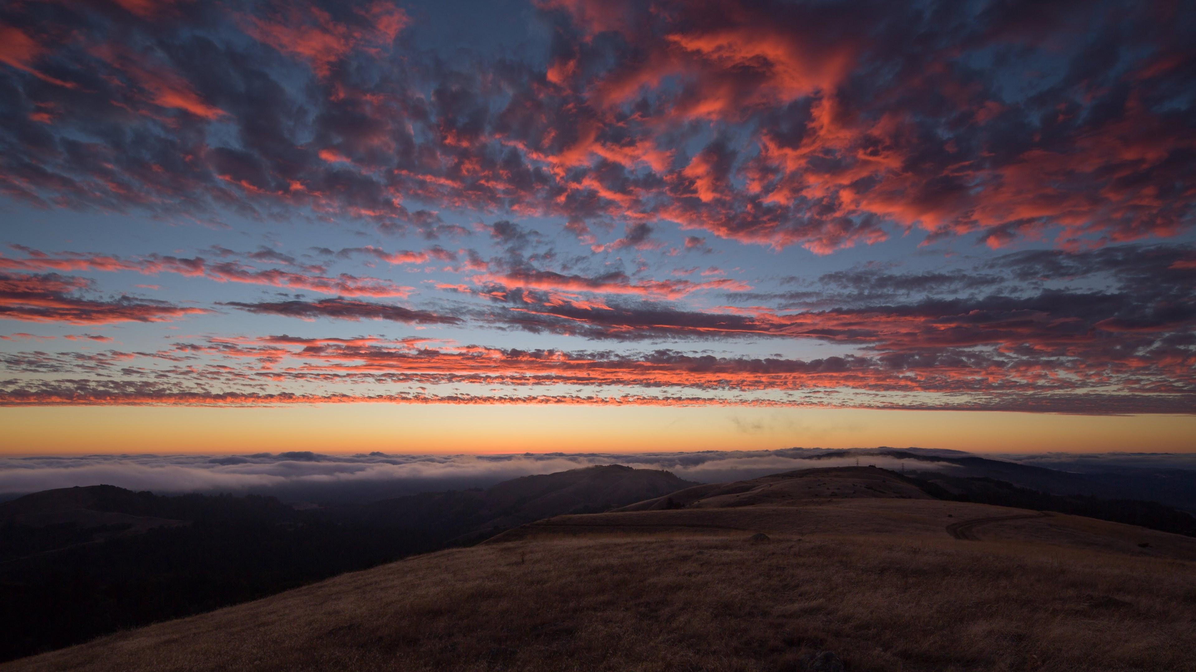 黄昏 黄昏云 天空 云彩 土地 自然风景 唯美黄昏 图片大全 高清图片