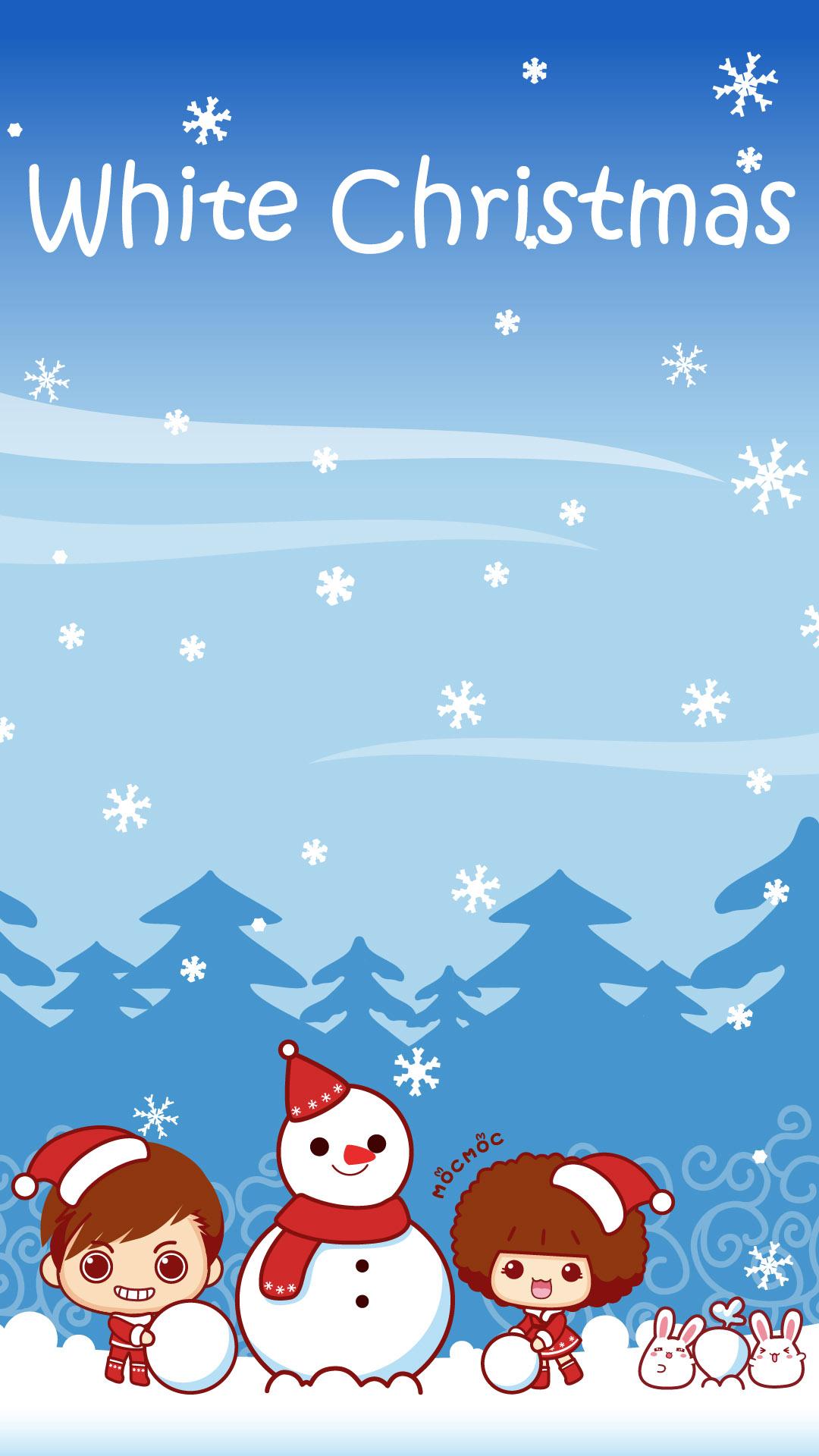 【1080x1920】11款可爱摩丝摩丝圣诞壁纸