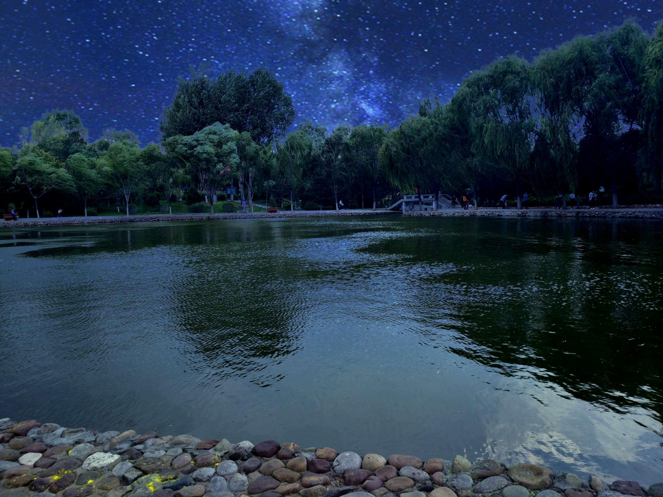 【最美照片】陕西神木杏花滩公园