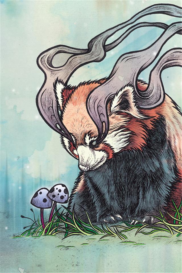 【v粉壁纸】魔幻动物奇异插画风格