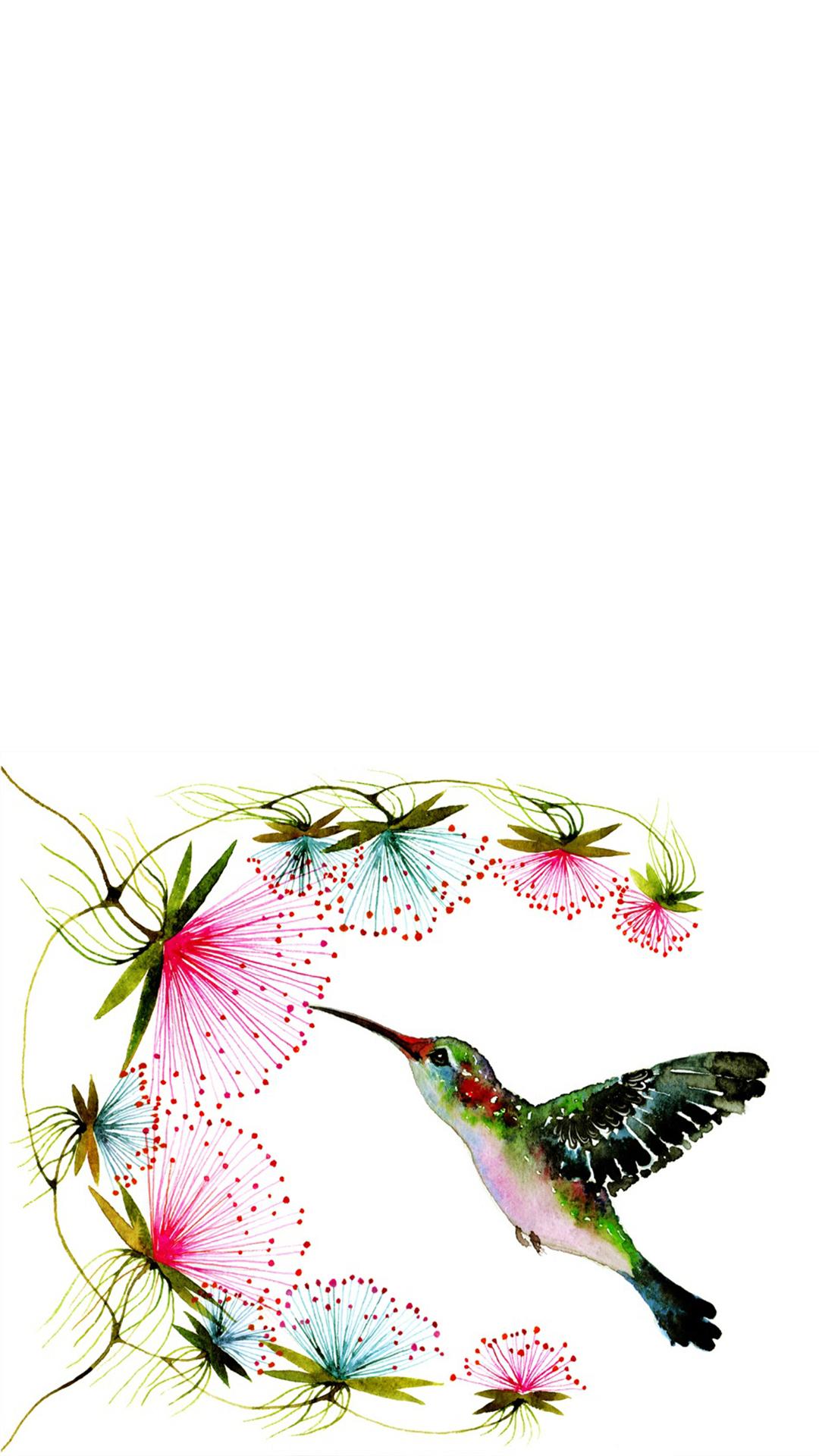 【v粉壁纸】好看的手绘小鸟高清壁纸