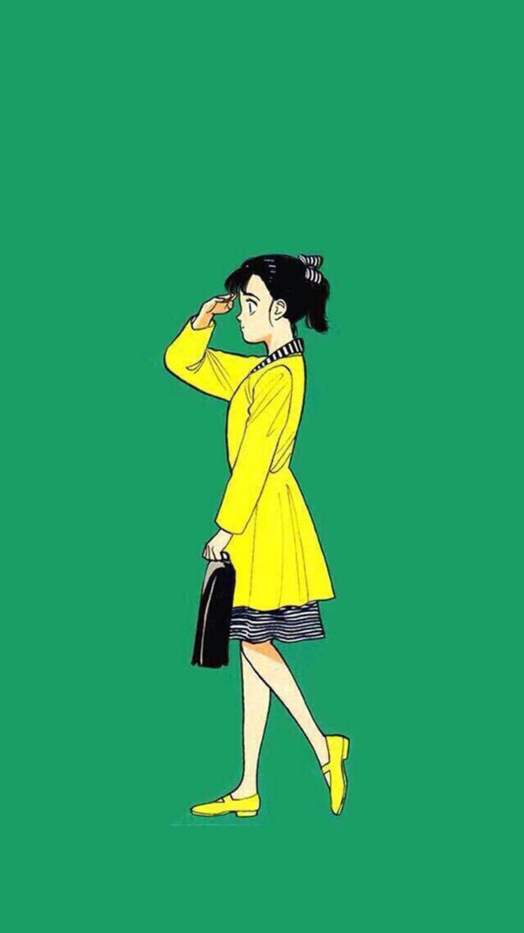 【v粉壁纸】个性绿色系卡通手机壁纸高清壁纸