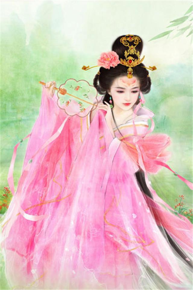 【v粉壁纸】古装美女手绘图片