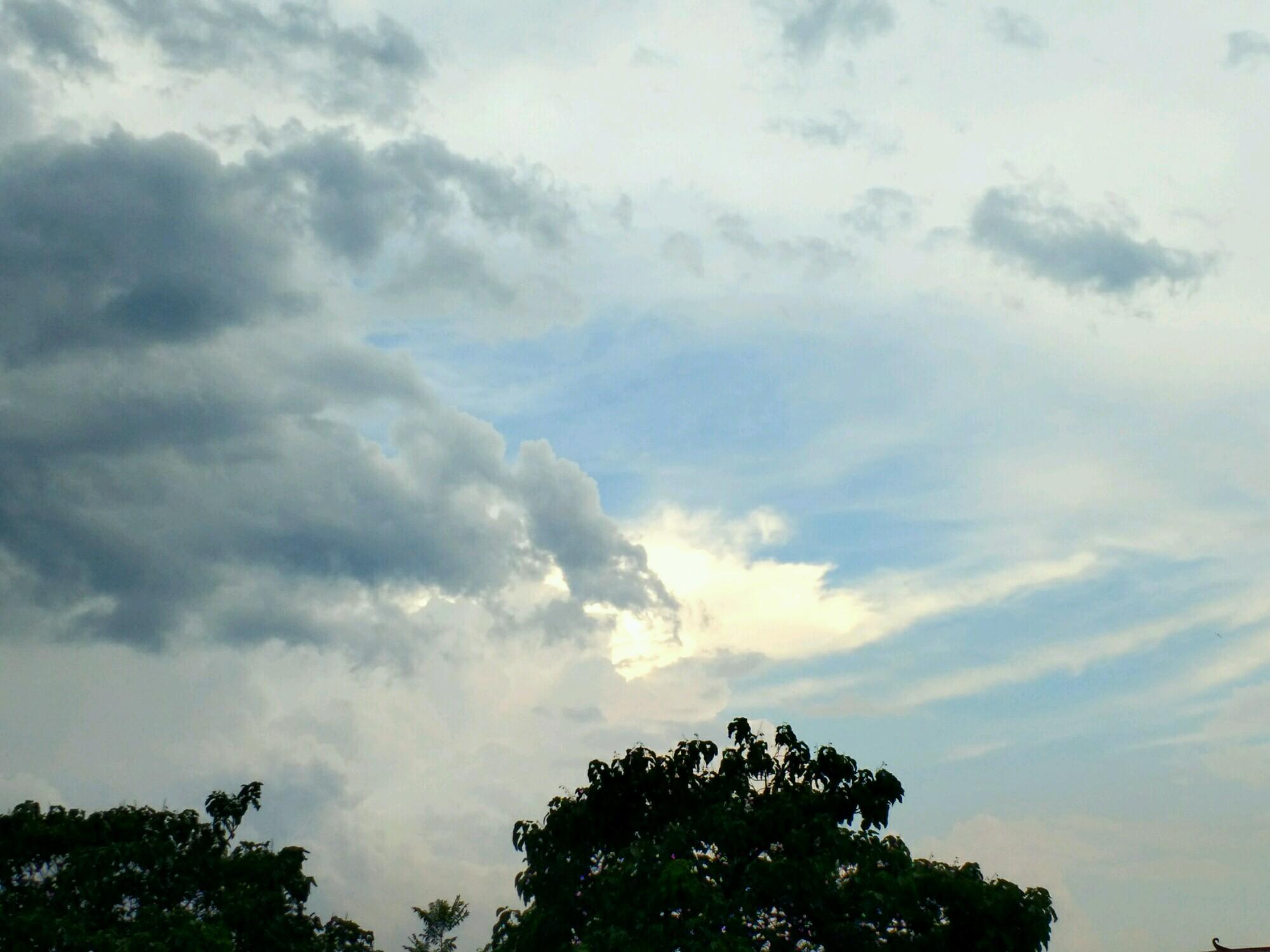 大雨冲刷后的风景