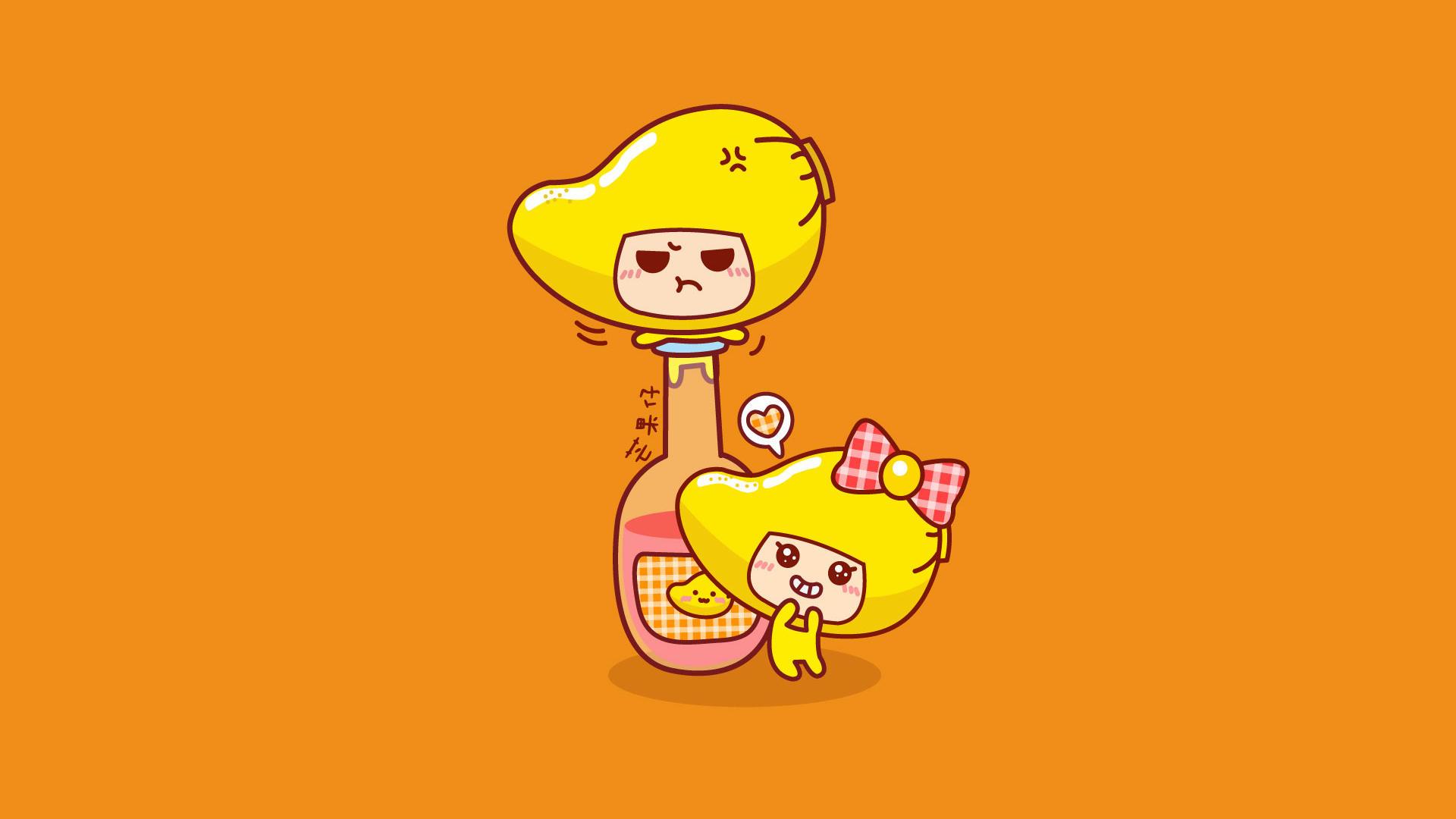 【v粉壁纸】可爱吃货芒果仔壁纸