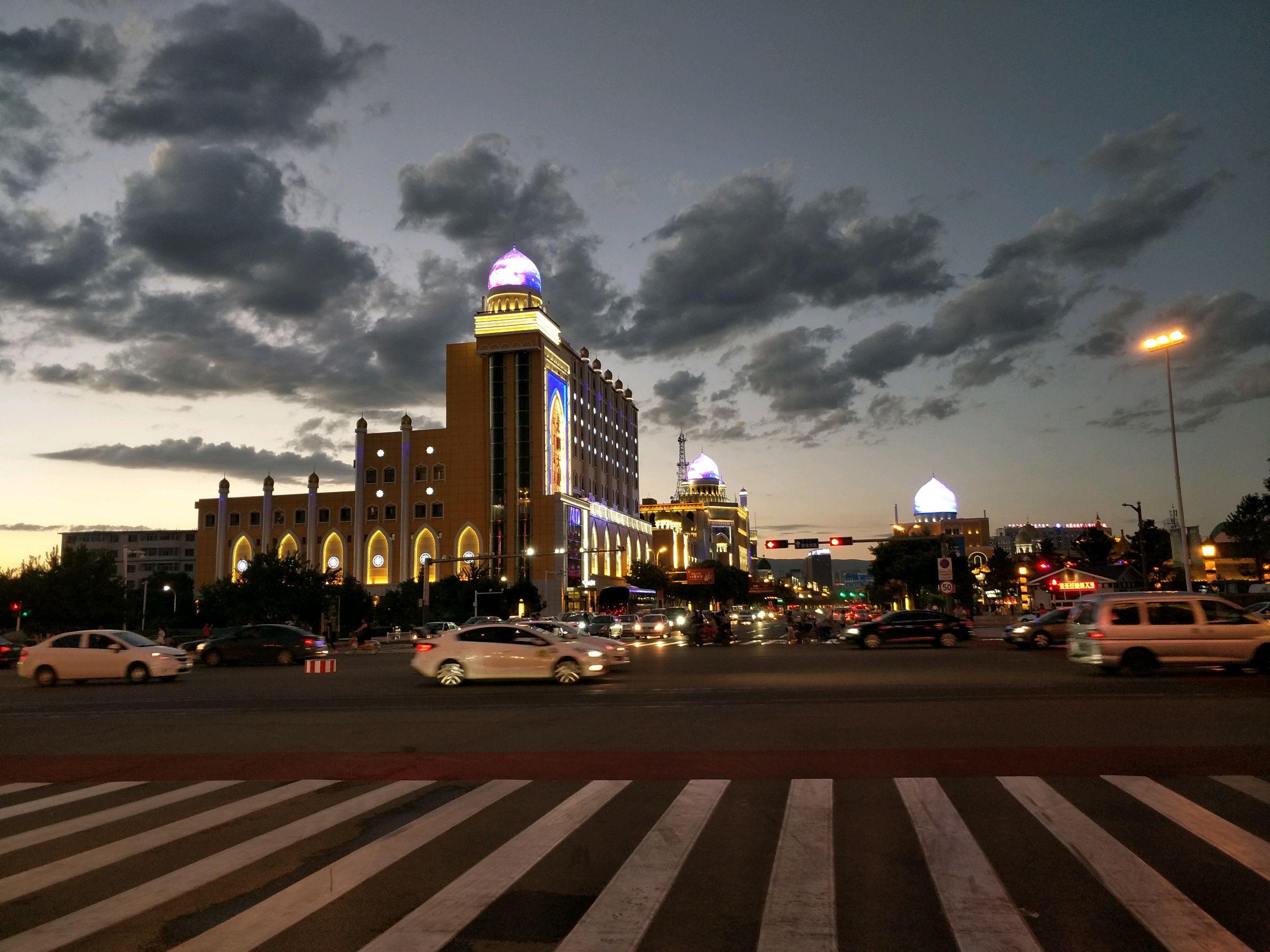 内蒙古70周年大庆 呼和浩特夜景