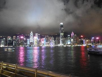 璀璨的香港夜景