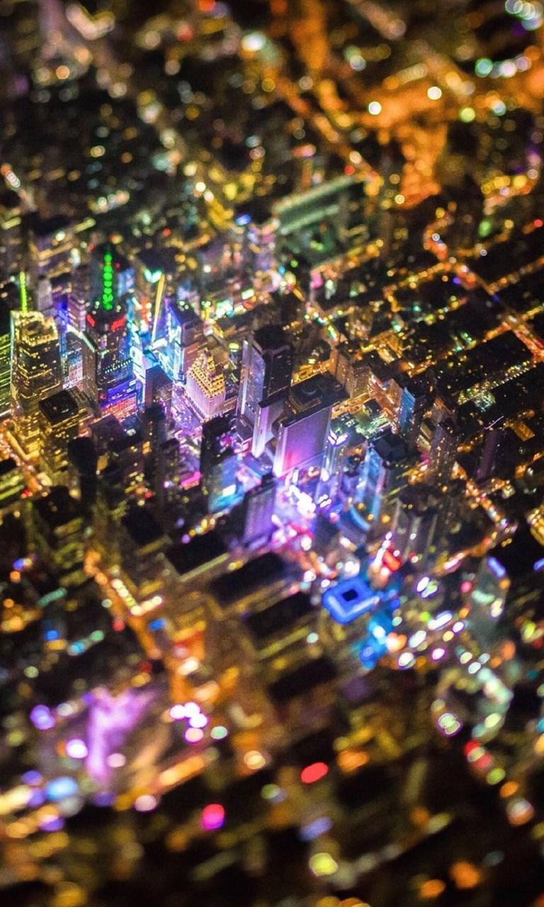 【v粉壁纸】纽约电路板唯美夜景【9p】