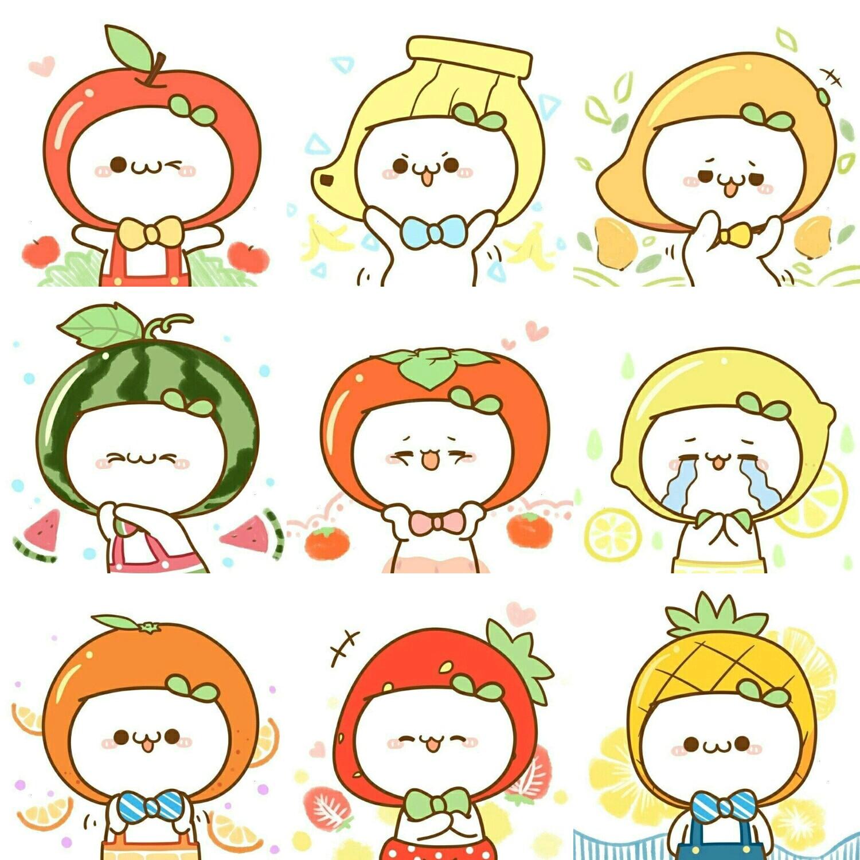 水果搞笑简笔画