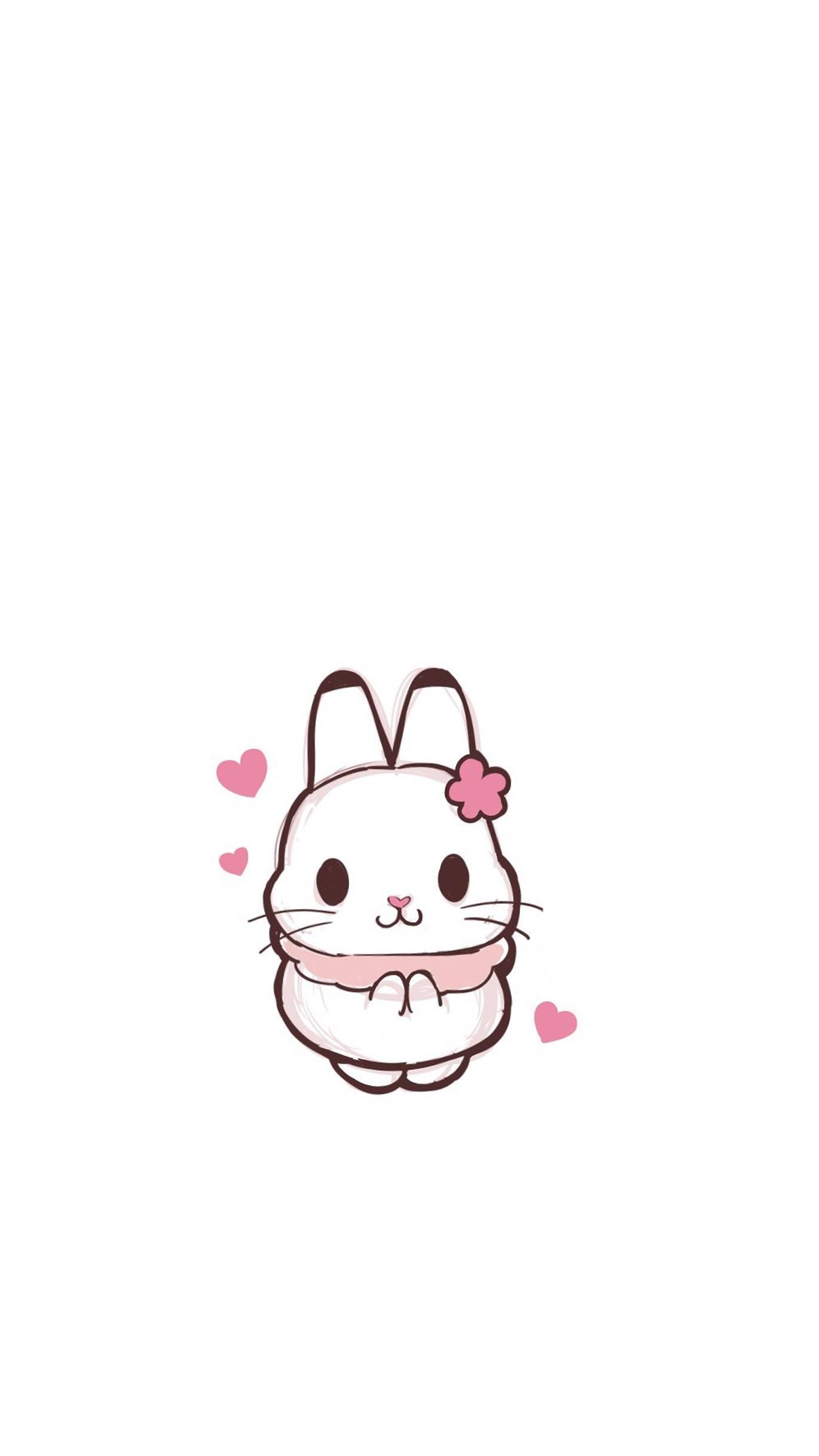 【资源组】 1370*2436 可爱兔几壁纸