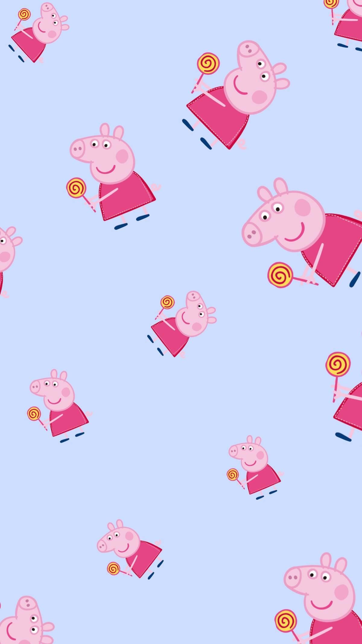 【实习资源组】可爱小猪佩奇平铺壁纸