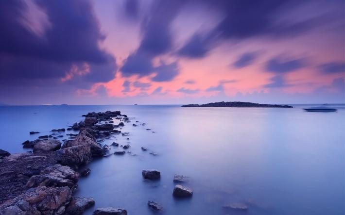 〔v粉主题素材壁纸〕唯美海岸风景