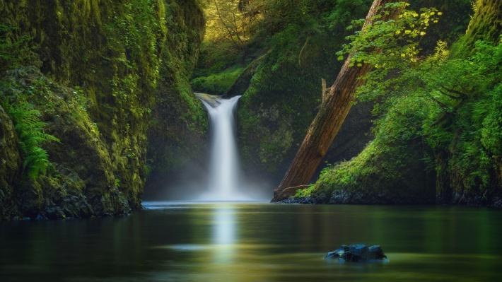 〔v粉主题素材壁纸〕唯美山涧溪流风景