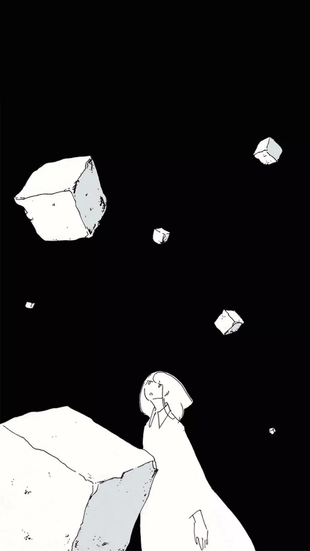 【v粉主题素材壁纸】黑色系创意【8p】