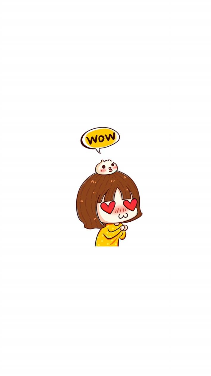 〔v粉主题素材壁纸〕简约可爱卡通