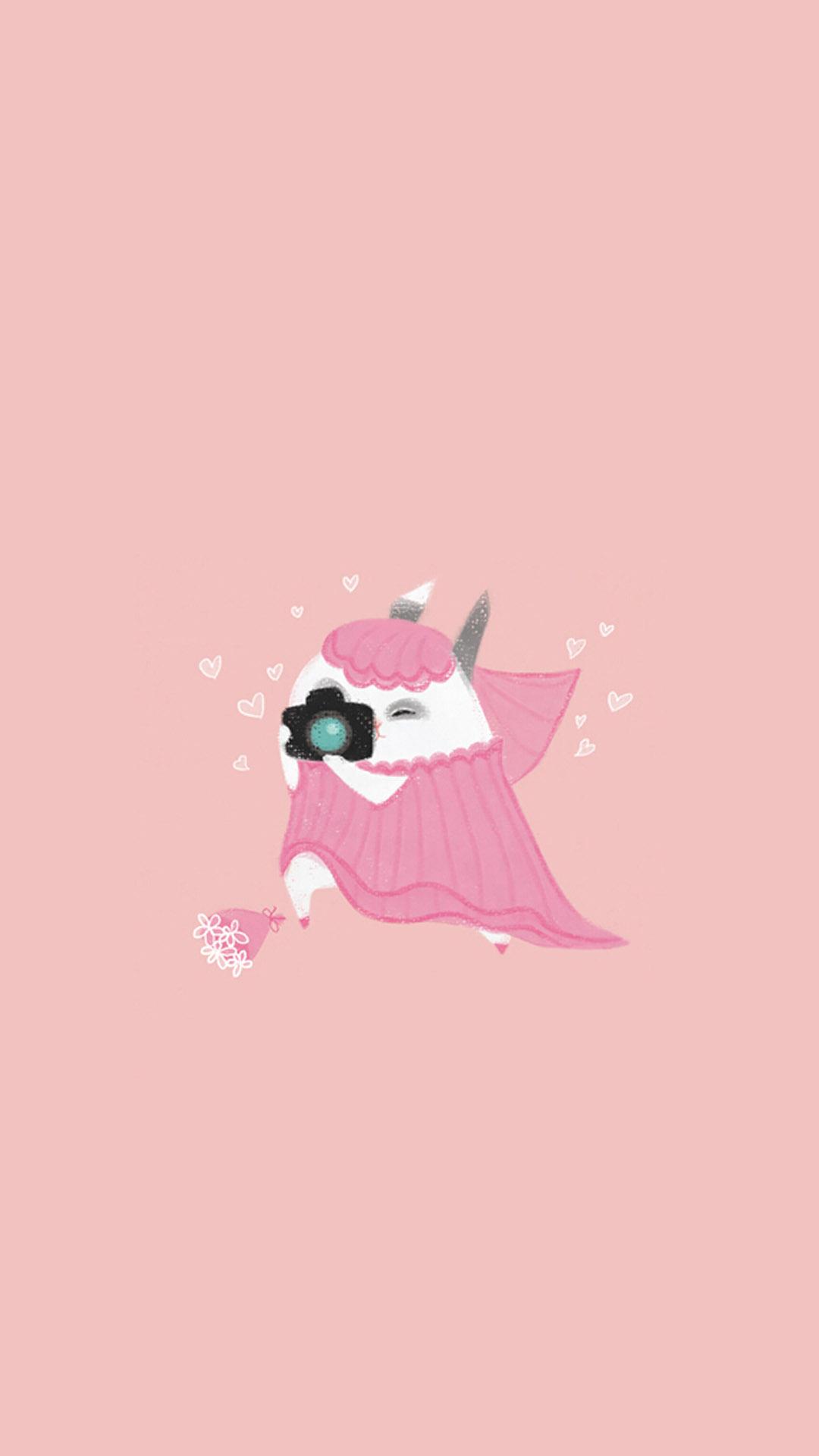【v粉壁纸】可爱卡通手绘小兔子高清图片手机壁纸