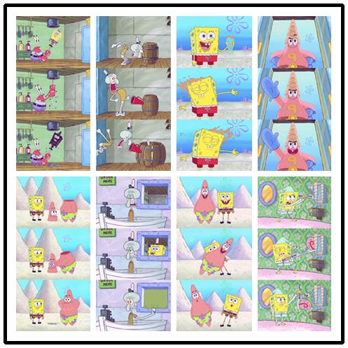 【v粉条素材壁纸】海绵宝宝可爱卡通高清手机壁纸