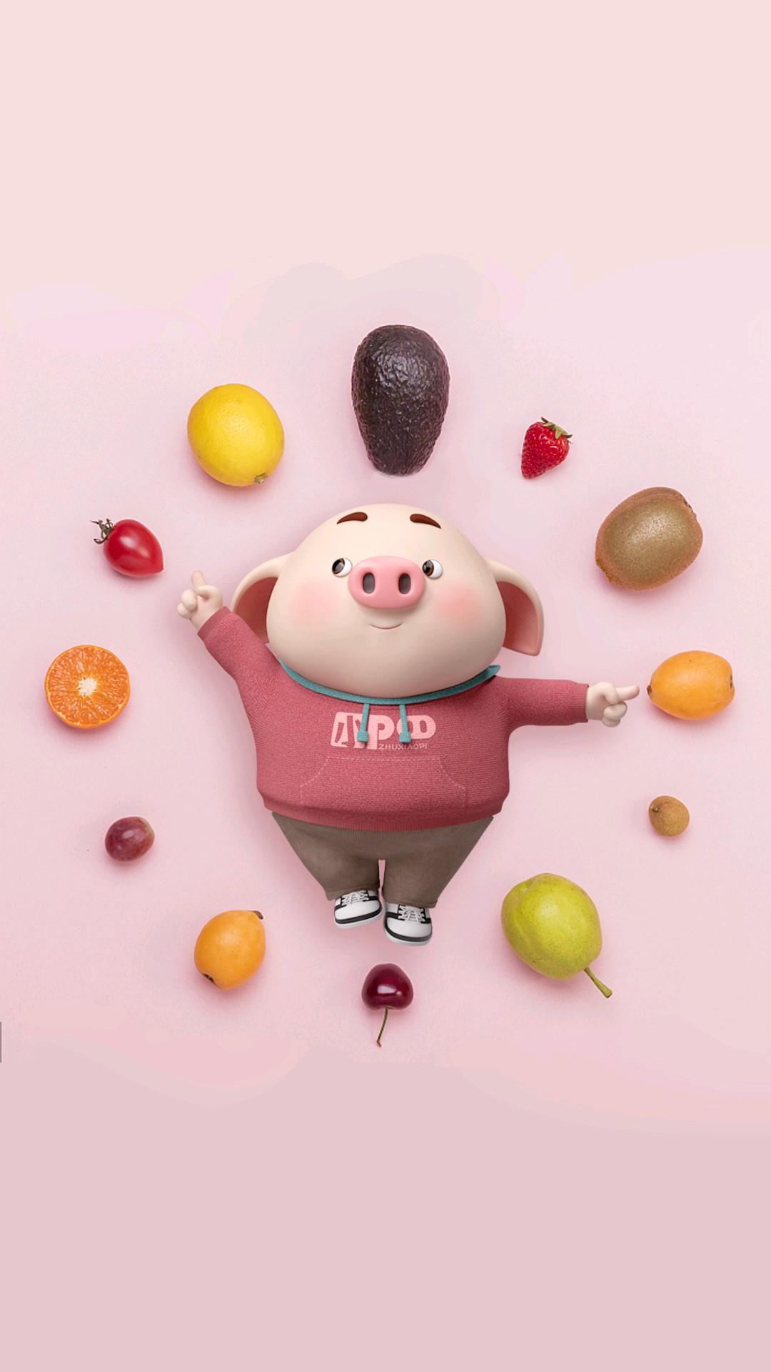 【v粉主题素材壁纸】猪小屁,可爱吗?-手机主题-vivov