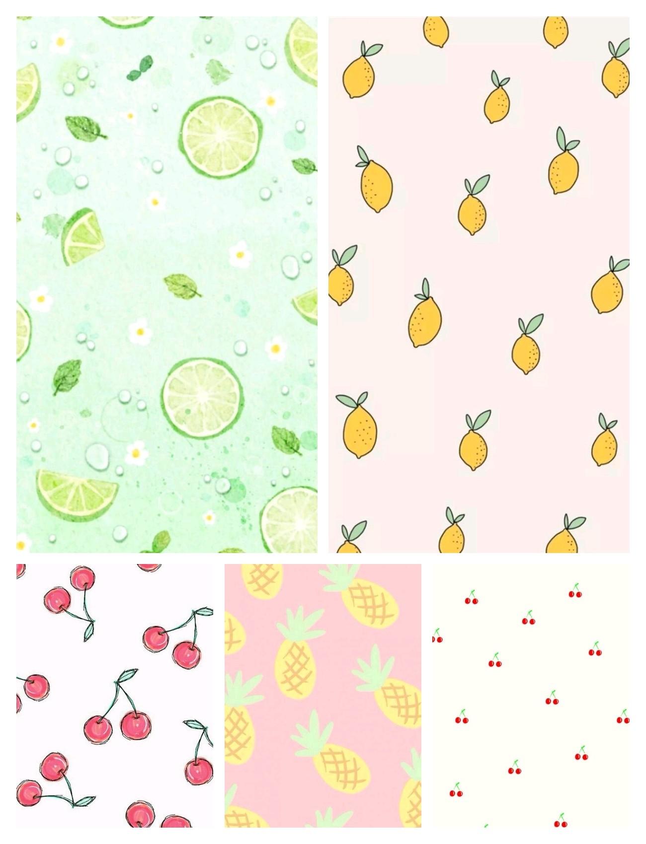 《v粉主题素材》水果平铺壁纸