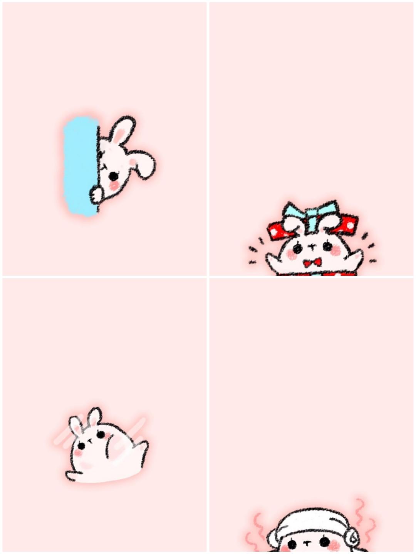 《v粉主题素材》可爱的手绘兔子