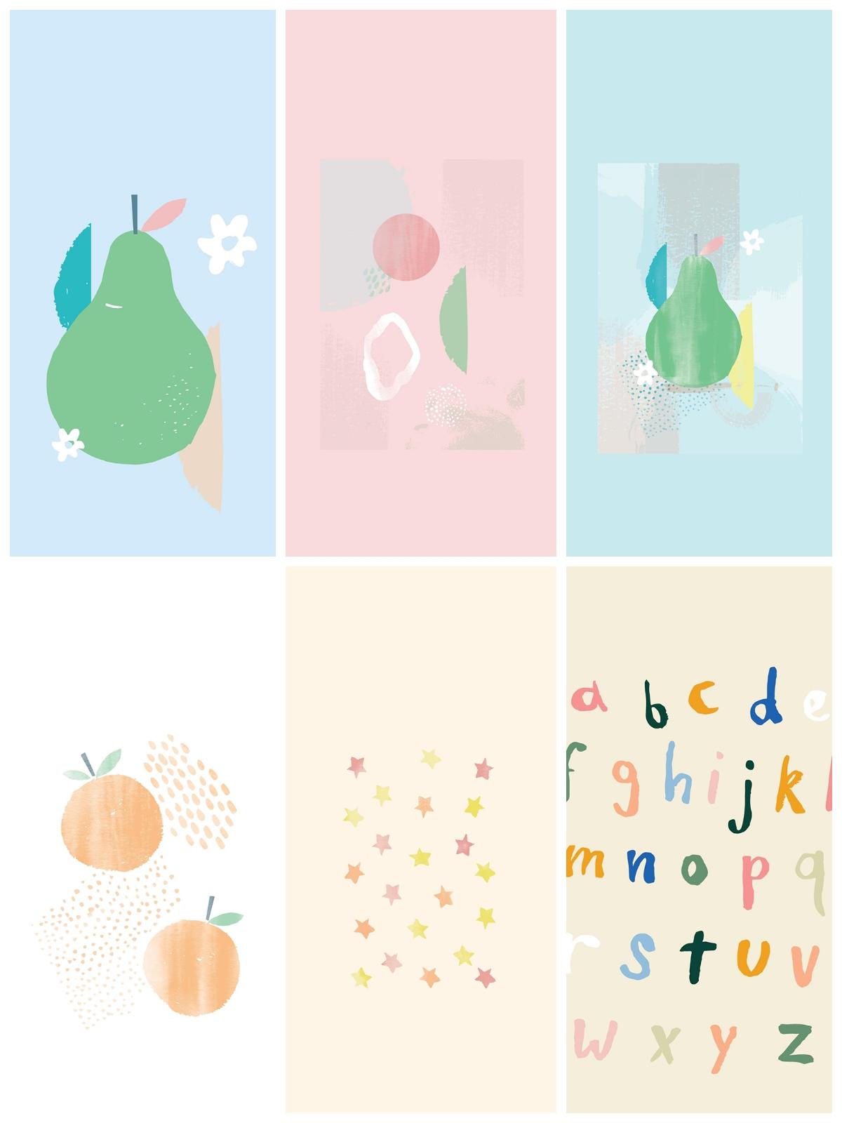 【壁纸】小可爱 童心可爱手绘治愈插画