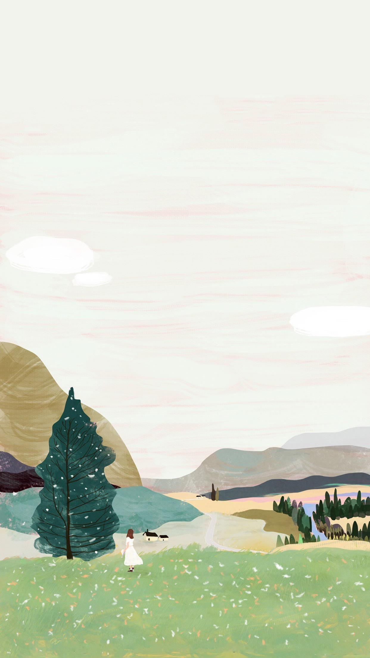 【壁纸】唯美风景意境插画