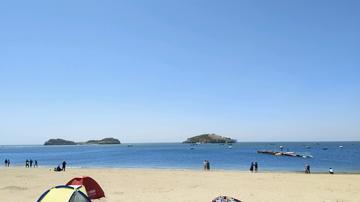 vivo x9  我的照片故事  大连付家庄海滨浴场 休息😊天海滨散步  悠然自得。😄