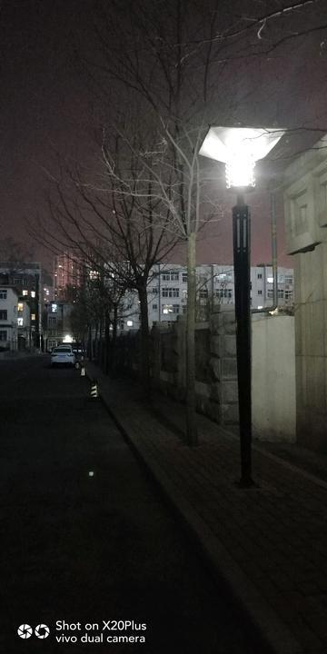 安静的节曰夜景