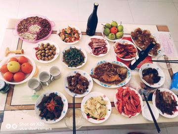 晒晒新年的年夜饭吧