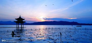 【X21样张】湖心亭暮色