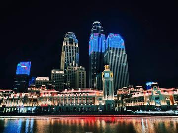 【NEX双屏版夜景】天津津湾广场夜景